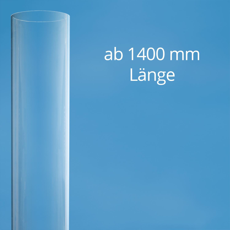 Polycarbonat Rohr klar gross